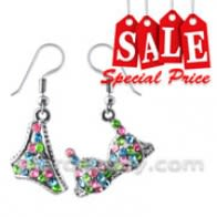 Multi Crystal Dangling Bra Penti Earring Set