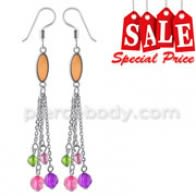 Fancy Multi Rhinestones Dangling Costume Earring