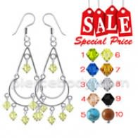 Fancy Dangling Costume Earring CLER055