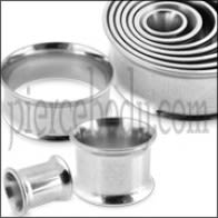 Surgical Steel Double Flared Ear Tunnel