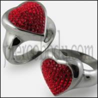 Crystal Heart Finger Ring