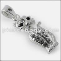 925 Sterling Silver White CZ Pendant