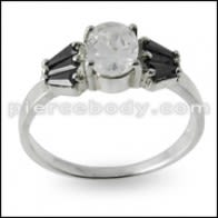 Inik Design Jeweled Alamòd Ring Silver