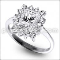 Vintage Silver CZ Jeweled Fashionable Stylish Ring
