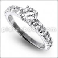 Multi kib zirkonya Jeweled Fashion Silver Ring