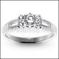 Stilingas unikalių mados sidabro žiedas juosta