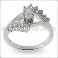 GT-DESIGN 925 Sterling Silver CZ Zikon Crystal Fashion Cute Fi Ring Dwèt