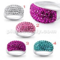 Fashion Vintage Klere tou Fi Crystal Pyerri Finger Ring