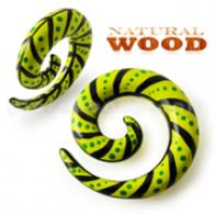 Mix Color Painted Spiral Wood Ear Taper