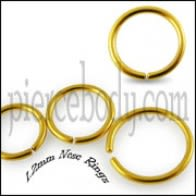 Gold Anodized Nose Hoop Ring