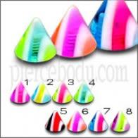 Color clasificado Eyebrrow Labret UV Multi Color Fantasía Cono