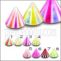 Assorted Color Labios Labret UV Multi Color Fantasía Cono UVC014