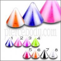 UV reflectante labio de la ceja Chin Cones
