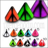 Múltiples Color UV Conos Chin Monroe Lip Labrets