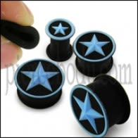 Embossed Aqua Star Silicone Ear Plug