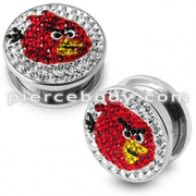 Angry Bird Crystal Ear Flesh Tunnel