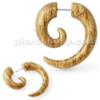 Wooden Marble Spiral Fake Ear Plug