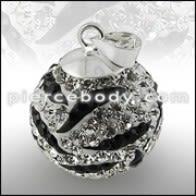 Crystal stone Silver Zebra Pendent Body Jewelry