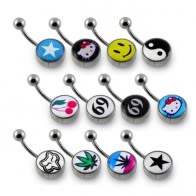 Logo Belly Button Rings
