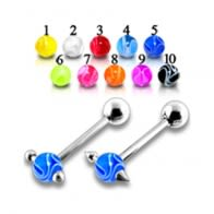 Move Through Tongue Marble Barbell