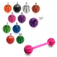 Mixed Color UV Barbell Ball Cap Stud Eyebrow Tongue Ring