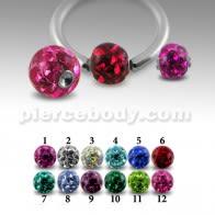 Los cristales multi con epoxi cubierta BCR hoyuelos de bolas de piedra