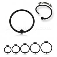 Black Steel PVD cirúrxica flexible BCR Piercing