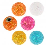 14 Gauge 6 mm Colorful Glitter Balls