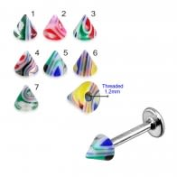 UV Fancy Colorful Glossy Marble Cone