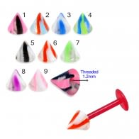 UV Fancy Colorful Two Tone Marble Cone