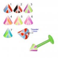 UV Fancy Colorful Multi Layer Triangles Cone