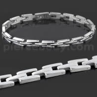Stainless Steel Classing Plain Mens Bracelet