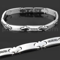 Stainless Steel Classing Tribal Sign Mens Bracelet