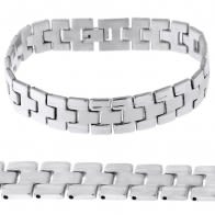Stainless Steel Plain Mens Bracelet