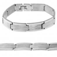 Stainless Steel Plain Laser Cut  Mens Bracelet