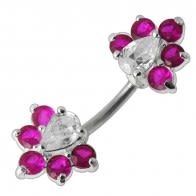 Fancy Jeweled Spinal Belly Button Ring