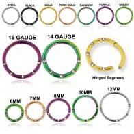 5 CZ Stones Paved Hinged Segment Ring