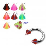 UV Fancy Colorful Swirl Cone