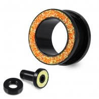 UV Glitter Screw Fit Ear Flesh Tunnel