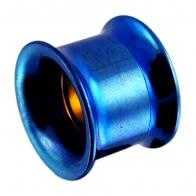 Dark Blue Internally Threaded Flesh Tunnel