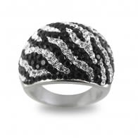 Crystal Zebra Setting Finger Ring