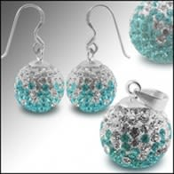 Crystal stone Studded DreamCatcher Silver Jewelry Earring pendant Set