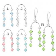 Crystal Beads on Horse Shoe Earring