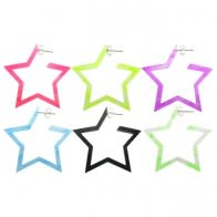 24mm UV React Fashionable Pentagon Star Earring