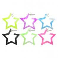 16mm UV React Fashionable Pentagon Star Earring