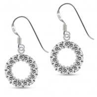 Fancy Multi Jeweled Dangling 925 Sterling Silver Ear Ring