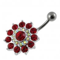 Multi Layered Flower Non-Moving Belly Ring