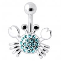Jeweled Crab Navel Belly Ring