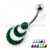 Multi Jeweled waves Navel Belly Piercing