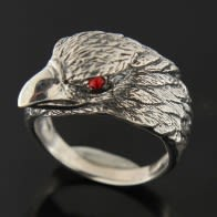 Jeweled Wouj je Eagle Finger Ring